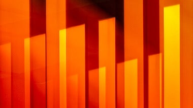 Orange light strips